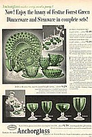 Anchor Hocking Glassware | Antique Green & Pink Depression Glassware