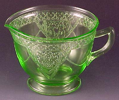 National Depression Glass Association Federal Georgian Lovebirds Enchanting Green Depression Glass Patterns